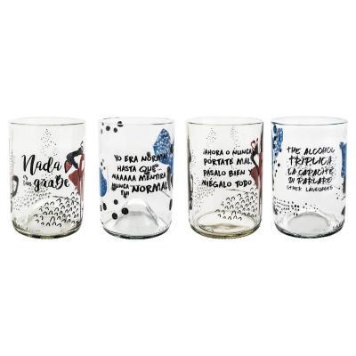 Set Vasos de Vidrio 300 ml 4 Unidades