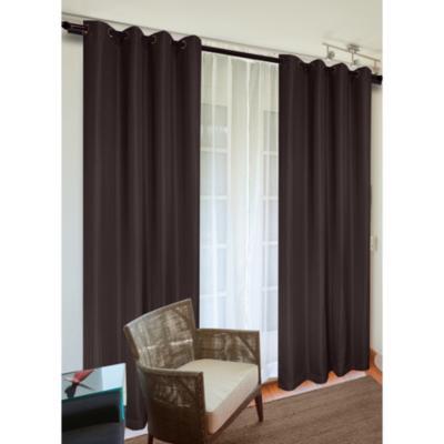 Set de cortinas tela 140x220cm Sofía café