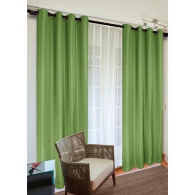 Set de cortinas tela 140x220cm Sofía verde