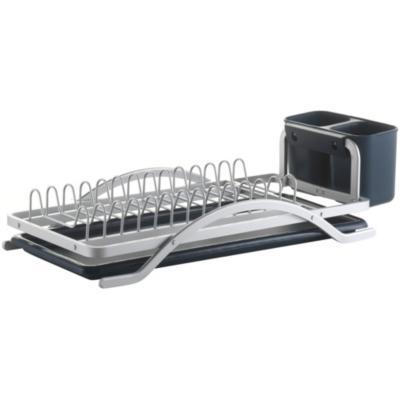 Secaplatos 13,5x21x43,5 cm aluminio negro
