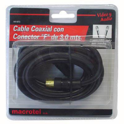 Cable coaxial RG-59 negro 3mts.