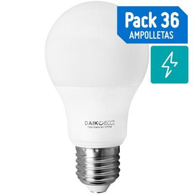 Set de ampolletas LED E-27 40 W Cálida 36 unidades