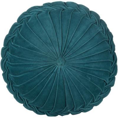 Cojín Velvet turquesa 40x10 cm