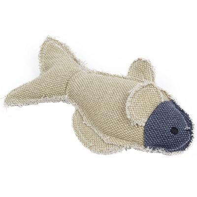 Juguete para perro 21x12 cm pescado de lona con sonido