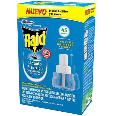 Recarga Insecticida Eléctrico 45 noches 37.5 cc