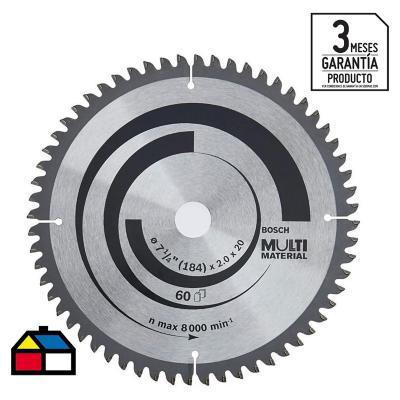 """Disco de sierra circular 7 1/4"""" 60 dientes"""