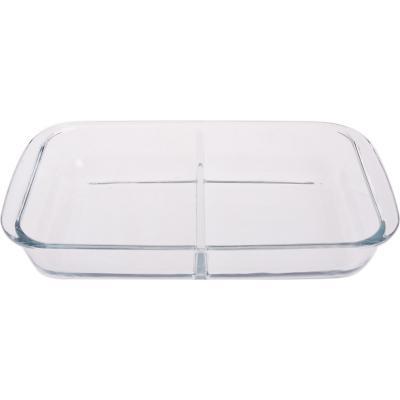 Asadera rectangular vidrio 1,5 litros con división