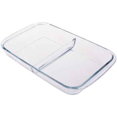 Asadera rectangular vidrio 2,9 litros con división
