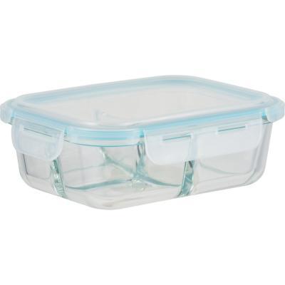 Contenedor redondo vidrio 1,05 litros 17x22x7,5 cm