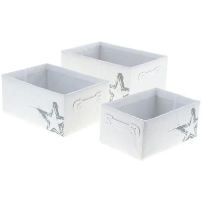 Set cajas 16x25x35 cm 3 unidades blanco