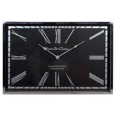 Reloj rectangular 40x61x5 cm cromado