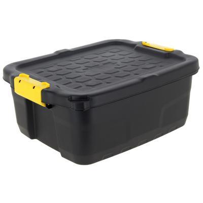 Caja con asa 24 litros negro