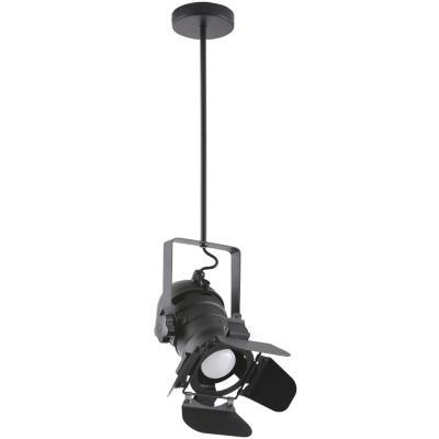 Lámpara de colgar Metal Aversa Negro