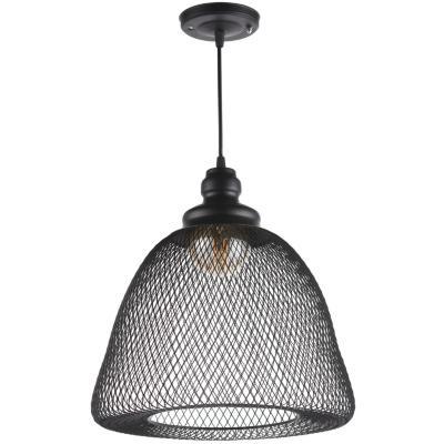 Lámpara de colgar Metal y Vidrio Elvas Negro