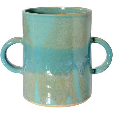 Vasija para cocina cerámica turquesa