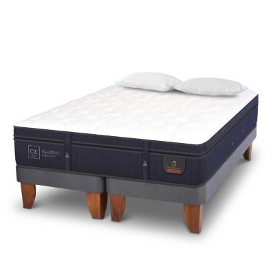 Cama Europea Super Premium 2 plazas BD + 2 almohadas