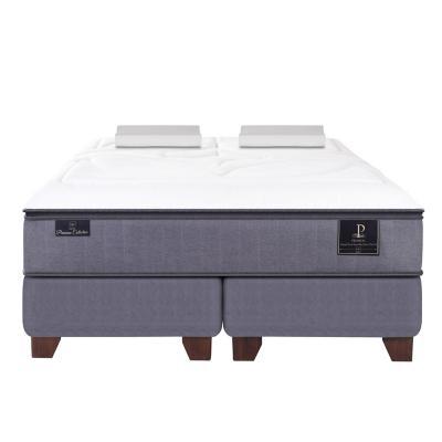 Box Spring Premium 2 plazas BD + 2 almohadas