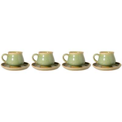 Juego de tazas 8 piezas verde