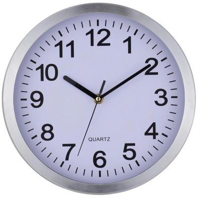 Reloj mural 25 cm Plateado