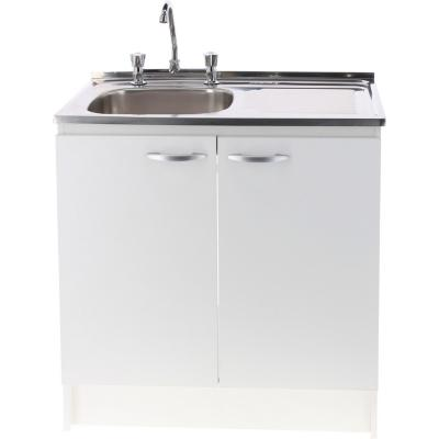 Kit mueble lavaplatos 80 cm derecho con rebalse