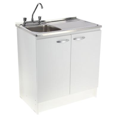 Kit mueble lavaplatos 80 cm izquierdo con rebalse