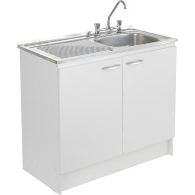 kit mueble lavaplatos 100 cm derecho con rebalse