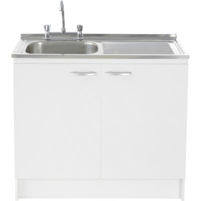 kit mueble lavaplatos 100 cm izquierdo con rebalse