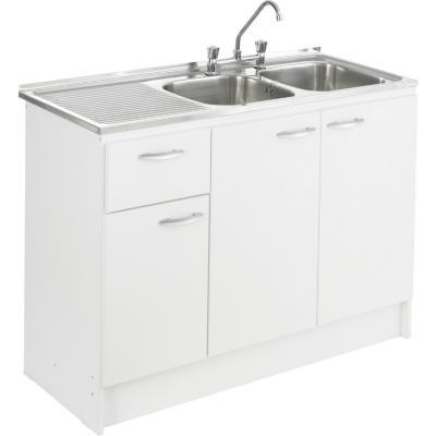kit mueble lavaplatos 120 cm derecho con rebalse