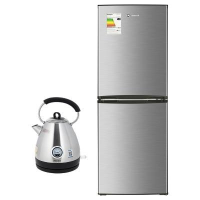 Refrigerador frío directo bottom freezer 231 litros gris + Hervidor eléctrico 1.7 litros inox