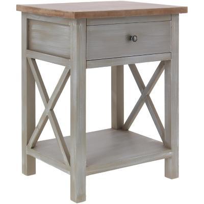 Velador 1 cajon 45x35x60 madera
