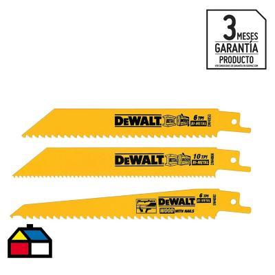 Pack hojas para sierra sable 3 unidades