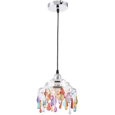 Lámpara de colgar Metal y cristal Vicenza Gris