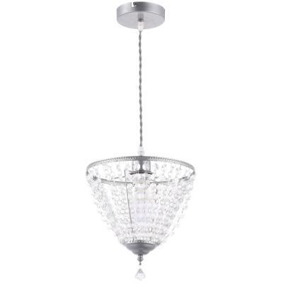 Lámpara de colgar Metal y cristal Rimini Gris