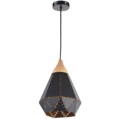 Lámpara de colgar Metal Novara Negro