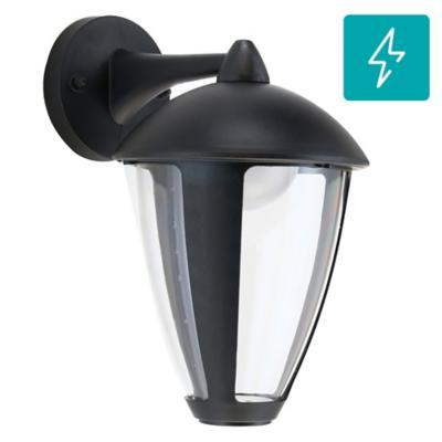 Farol de muro LED 8 W negro