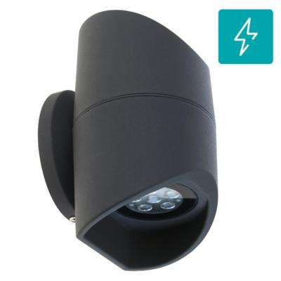 Apliqué de muro LED 12 W Negro