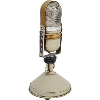 Micrófono decorativo 25x11 cm metal