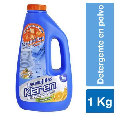 Detergente en polvo para lavavajilla 1 kg botella