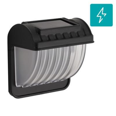Apliqué Clásico led solar plástico blanco con negro