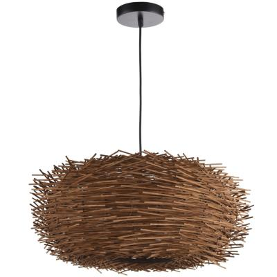 Lámpara de colgar Ratán Nido Natural