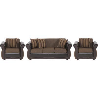Juego de living sofá 3 cuerpos + 2 sillones café