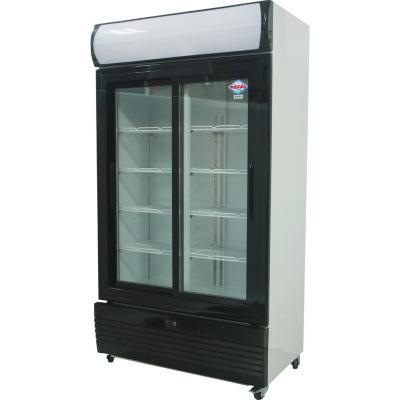 Visi-Cooler 2 puertas 800 litros negro/blanco