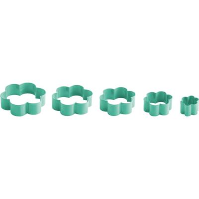 Set de cortadores de galletas 5 unidades verde