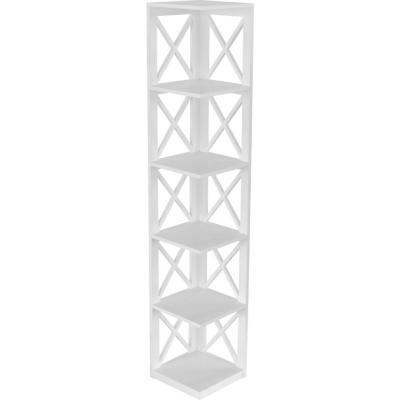 Estante 5 repisas 33x162x33 cm blanco