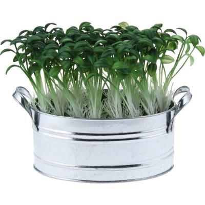 Arreglo de flores artificiales plástico con base de metal Verde