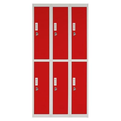 Locker acero 6 puertas con portacandado
