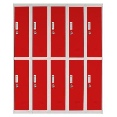 Locker acero 10 puertas con portacandado