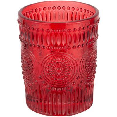 Vaso vidrio 300 ml rojo