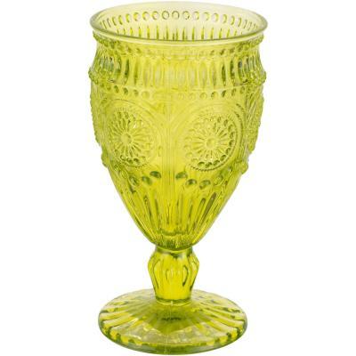Copa vidrio flores