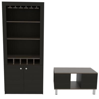 Combo de mesa de centro + mueble de bar